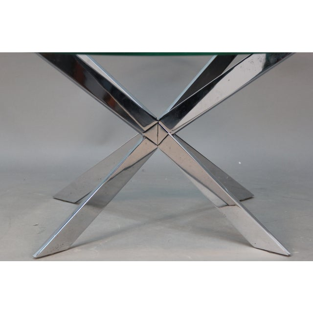 Leon Rosen for Pace Chrome Star Base Coffee Table - Image 4 of 6