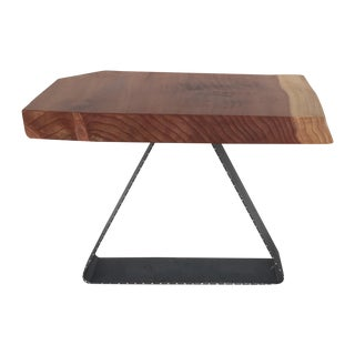 Redwood Solid Slab Live Edge Side Table