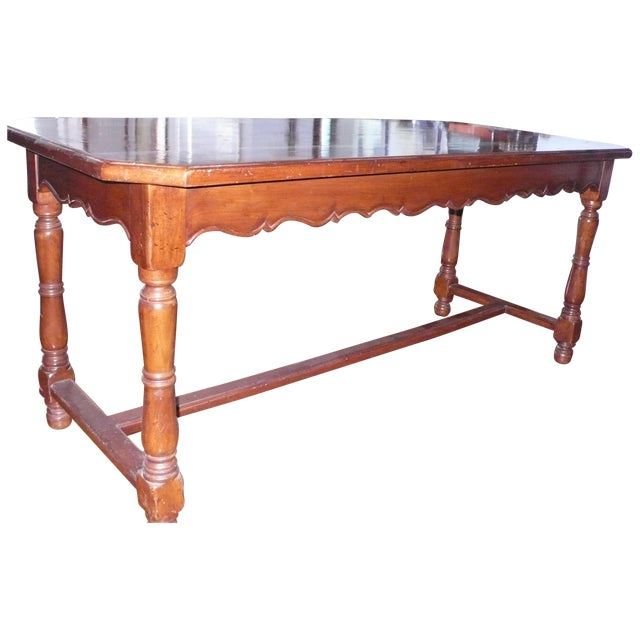 French Provincial Italian Library/Dining Table - Image 1 of 6
