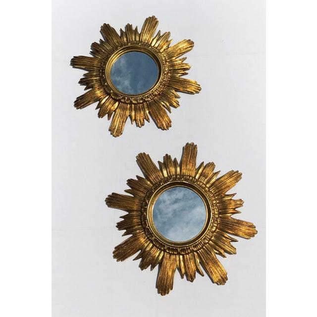Italian Starburst Mirrors- A Pair - Image 3 of 8