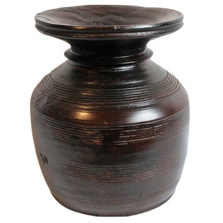 Carved Nepal Wood Vase
