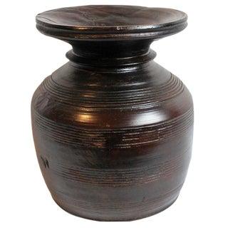 Carved Nepal Wood Vase
