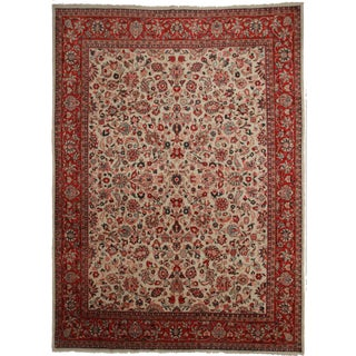 Hand-Knotted Persian Mahal Rug - 10′ × 14′
