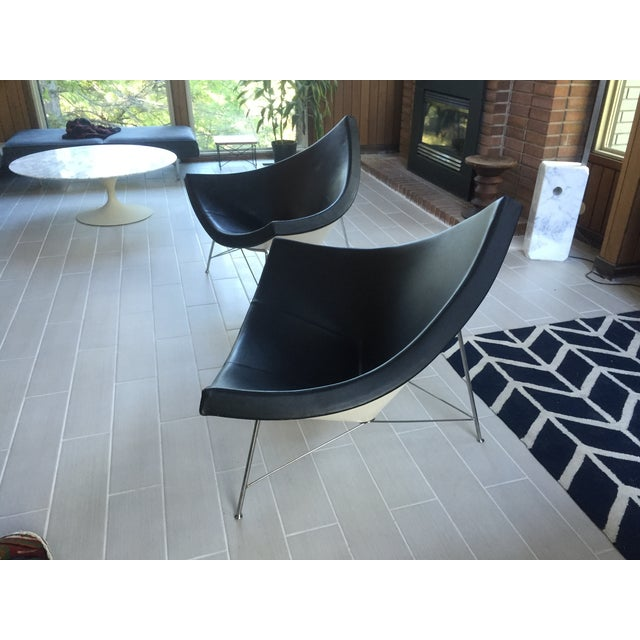 George Nelson Leather Coconut Chairs by Vitra-Pair - Image 3 of 5