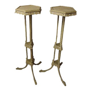English Gilt Torchiere Stands - A Pair