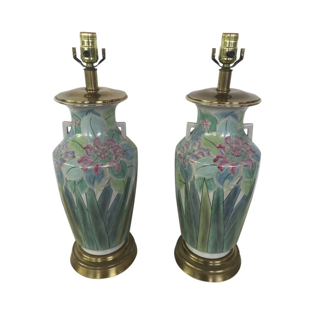 Chinoserie Hand Painted Fredrick Cooper Lamps - 2 - Image 1 of 9