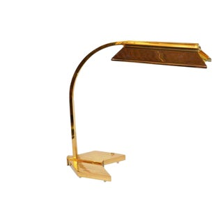 Casella Brass and Chrome Statement Desk Lamp