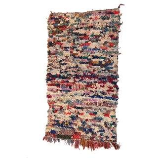 """Vintage Moroccan Boucherouite Carpet - 3'7"""" X 6'"""