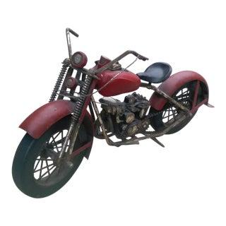 Vintage 1940's Motorcycle Store Display Piece