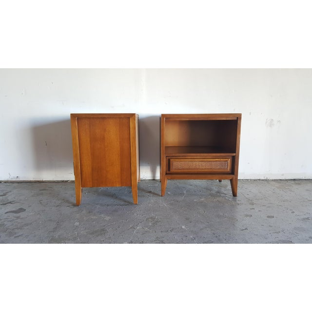 Vintage Mid-Century Nightstands by Century - Pair - Image 4 of 10