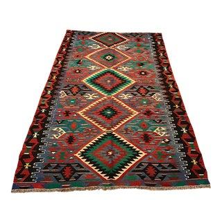 Vintage Anatolian Esme Kilim Rug - 5'6'' x 9'