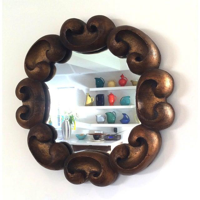 Vintage Ornate Gilded Wood Decorative Mirror - Image 2 of 3