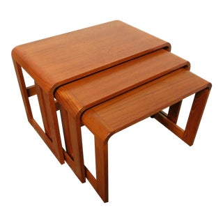 Vintage Danish Modern Teak Nesting Tables - Set of 3
