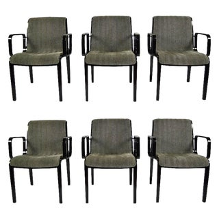 Set of Six Bill Stephens for Knoll Dining Chairs
