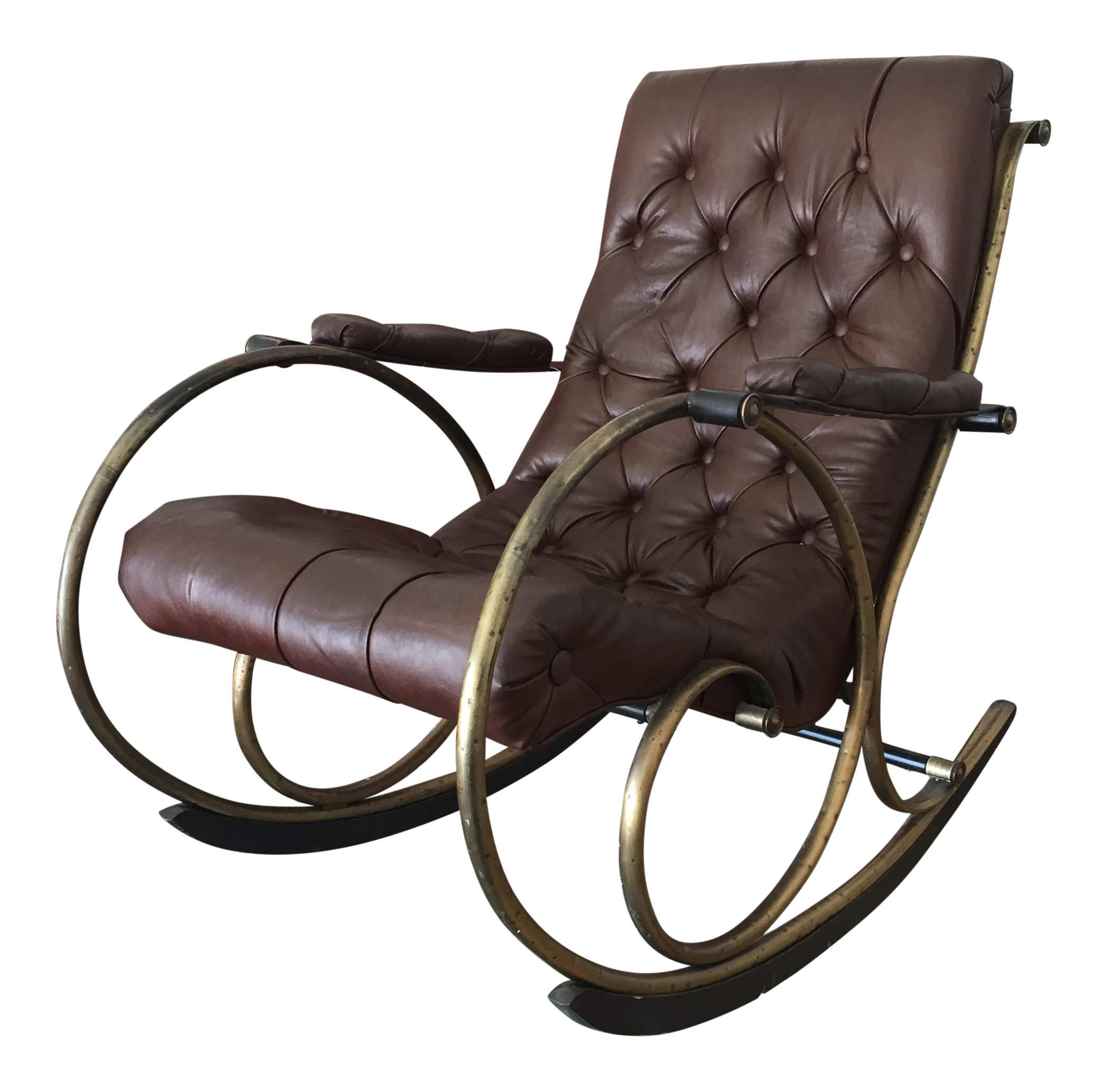 And wood rocking chair by woodard leather brass and wood rocker by - Shop 300 Used Amp Vintage Rocking Chairs At Chairish Com