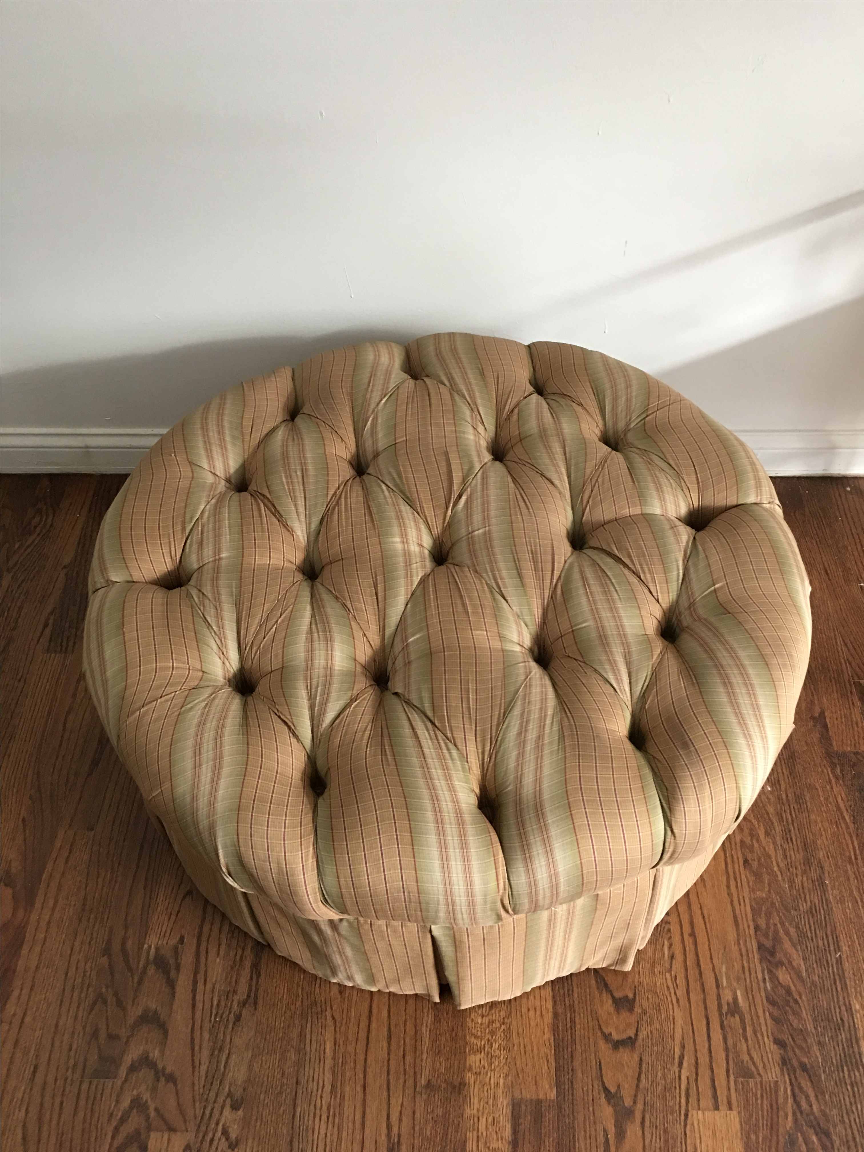 Large Plunkett Furniture Pinched Ottoman Footrest Pouf Tuffet   Image 2 Of  11