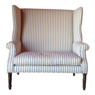 19th C. Wingback Chippendale Settee