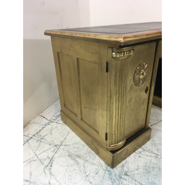 French Neo-Classical Style Gold Leaf Desk - Image 8 of 10
