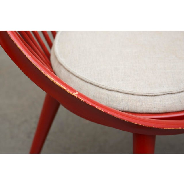 Swedish Red Hoop Lounge Chair - Image 11 of 11
