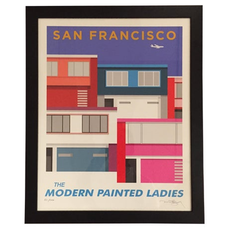 San Francisco Modern Painted Ladies-Print Only - Image 1 of 5