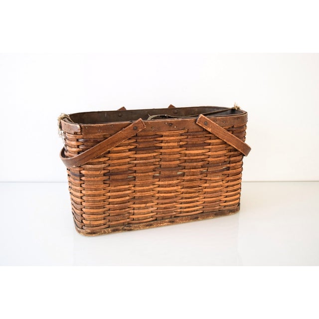 Woven Gathering Basket : Antique woven apple gathering basket chairish