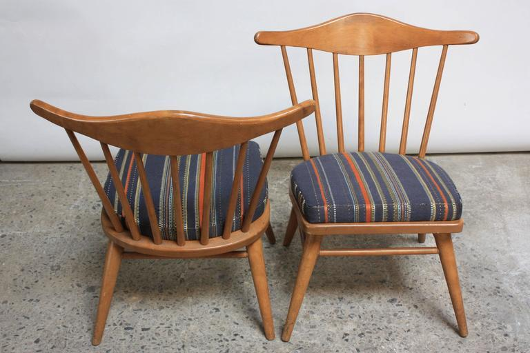 Pair Of Conant Ball Spindle Back Accent Chairs Attributed To Russel Wright    Image 5
