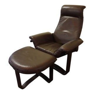 "Westnofa ""Manta"" Chair with Ottoman"