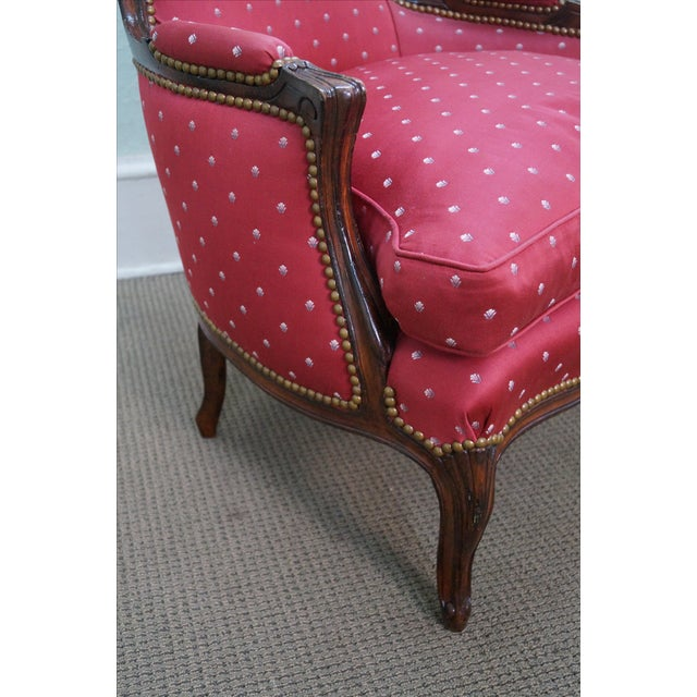 French Louis XV Style Bergere Chairs - A Pair - Image 8 of 10