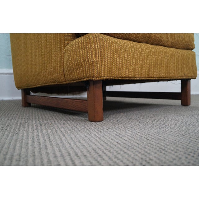 Mid-Century Walnut Frame Lounge Chair And Ottoman - Image 5 of 10