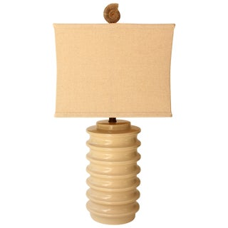 Ribbed Fossil Table Lamp