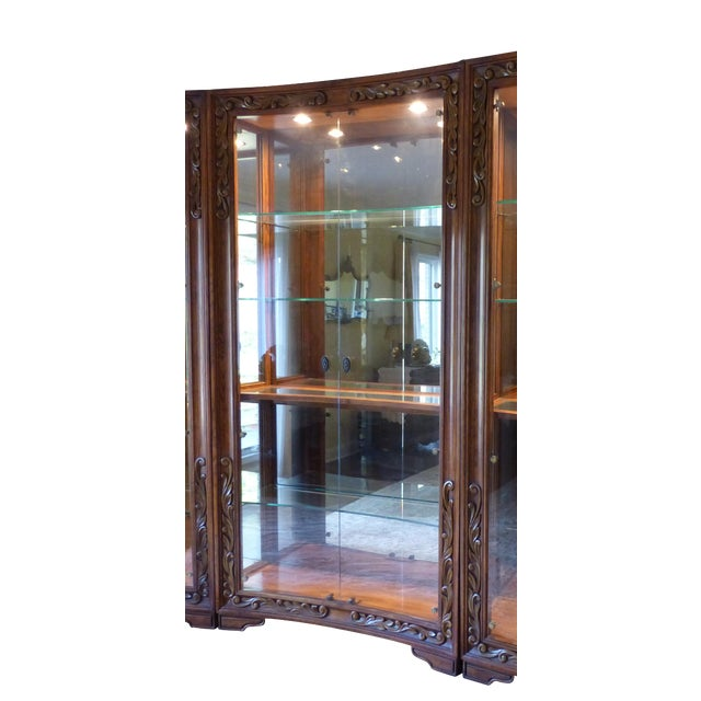 Henredon Alfresco Collection Concave Display Cabinet - Image 1 of 9