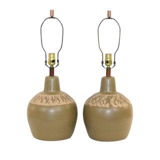 Mid-Century Martz Pottery Lamps- A Pair