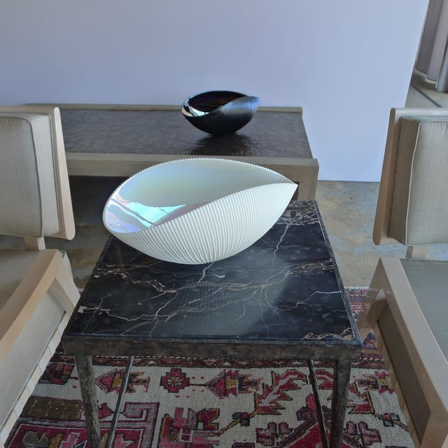 Murano Bowl in Ivory and Iridescent Colors - Image 5 of 5