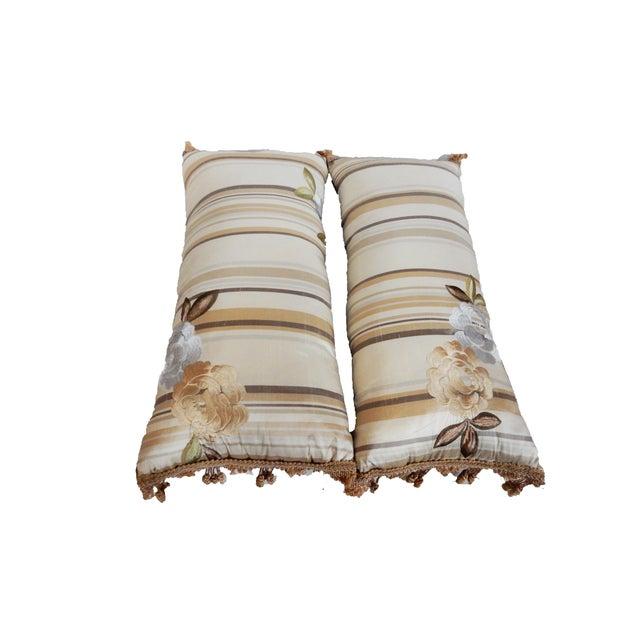Custom Made Silk Lumbar Pillows - A Pair - Image 3 of 9