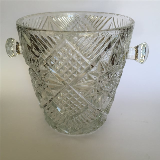 Cut Glass Crystal Ice Bucket - Image 2 of 8