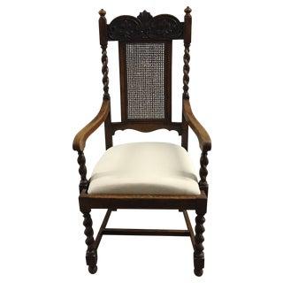 Antique French Barley Twist Arm Chair