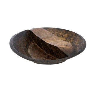 African Hand Carved Wood Plate