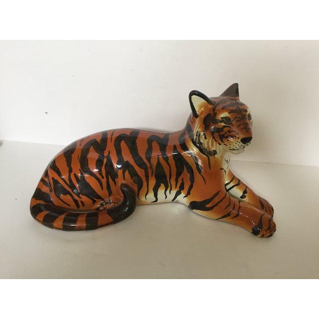 Stunning Italian Ceramic Tiger - Image 2 of 8