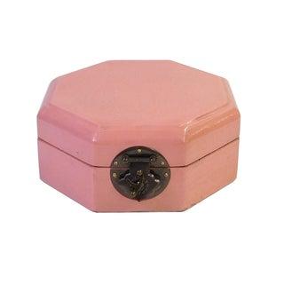 Chinese Pink Octagon Jewelry Box