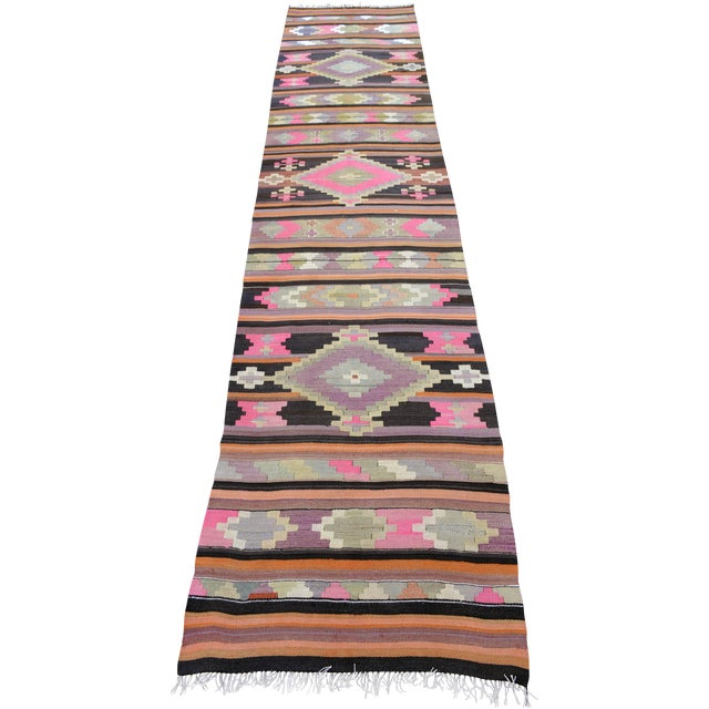 Hand Woven Vintage Turkish Runner - 2′7″ × 9′2″ - Image 1 of 10