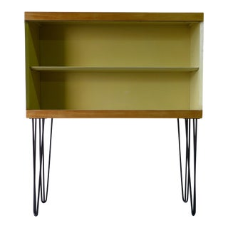 Mid-Century Modern Bookcase on Hairpin Legs