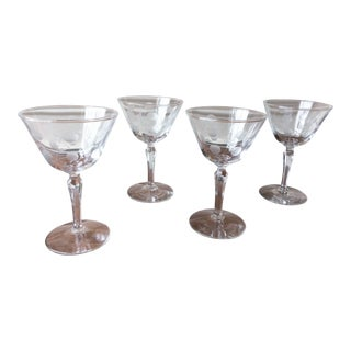 Vintage Mid-Century Cocktail Glasses - Set of 4