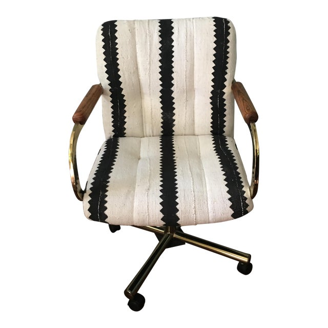 Black & White Desk Chair - Image 1 of 9