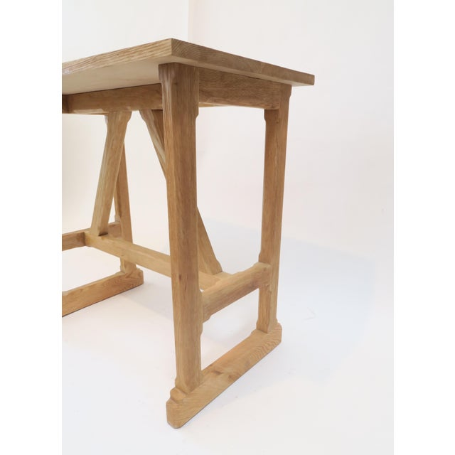 Custom Trestle Wood Table - Image 5 of 7