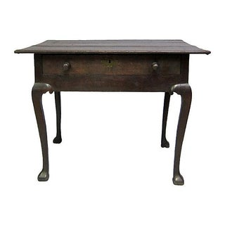 1730s Antique Queen Anne Side Table