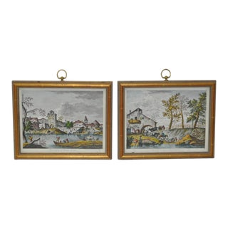 Vintage Framed Italian Prints - A Pair