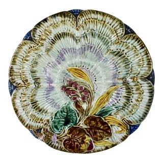 Belgian Wasmuël Earthenware Oyster Plate