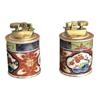 Vintage Japanese Table Lighters - A Pair