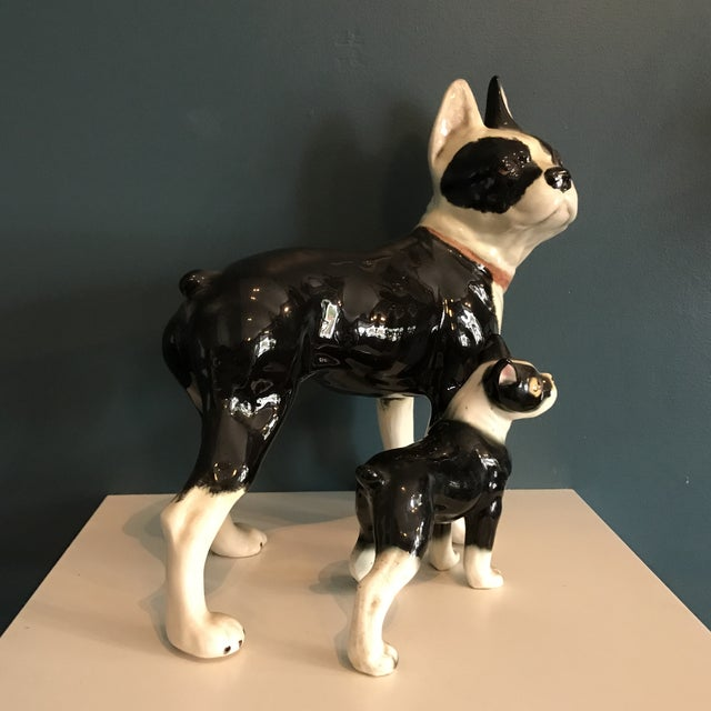 Vintage Ceramic Boston Terriers - A Pair - Image 4 of 5