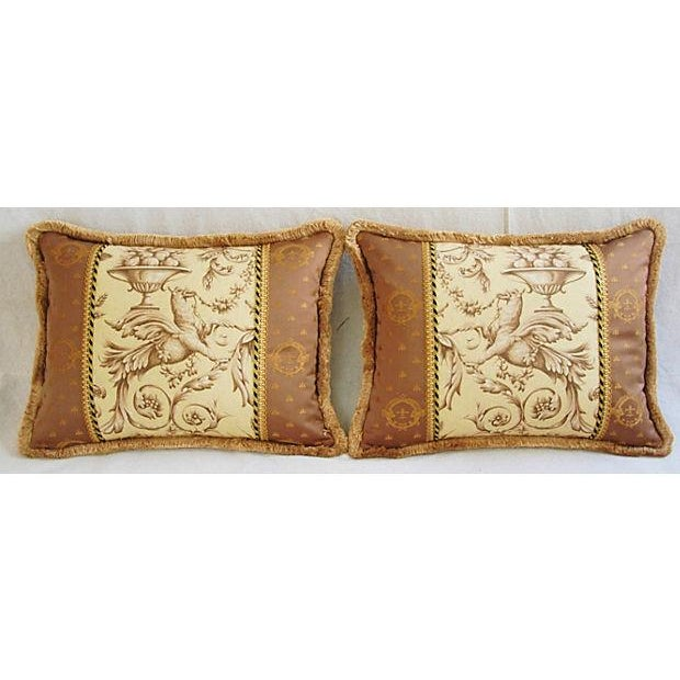 Designer Braemore Mythical Griffin Pillows - Pair - Image 7 of 8